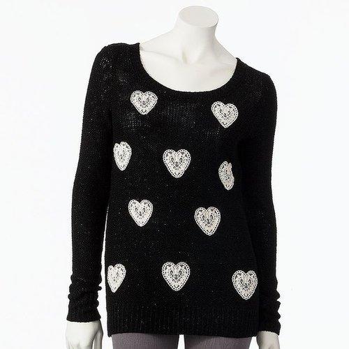 Lc lauren conrad heart lurex sweater