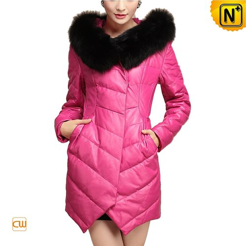 Women Winter Down Coat with Fox Fur Collar CW630311