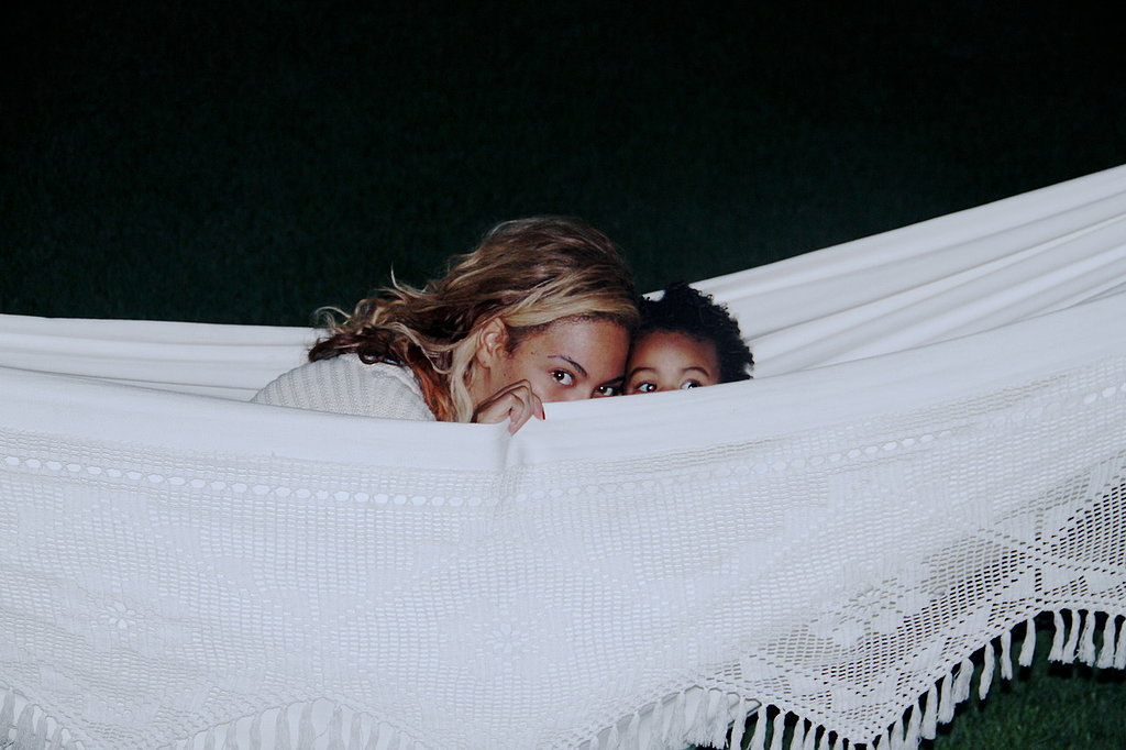 Beyoncé and Blue snuggled up in a hammock. Source: Tumblr user Beyoncé