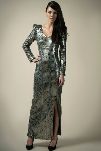 Boutique Tiffany Patchwork Sequin Maxi Dress