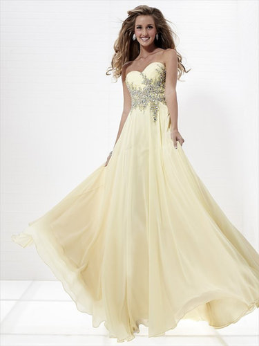 Traditional Collection Sweetheart A Line Floor Length Chiffon Beading Sequins