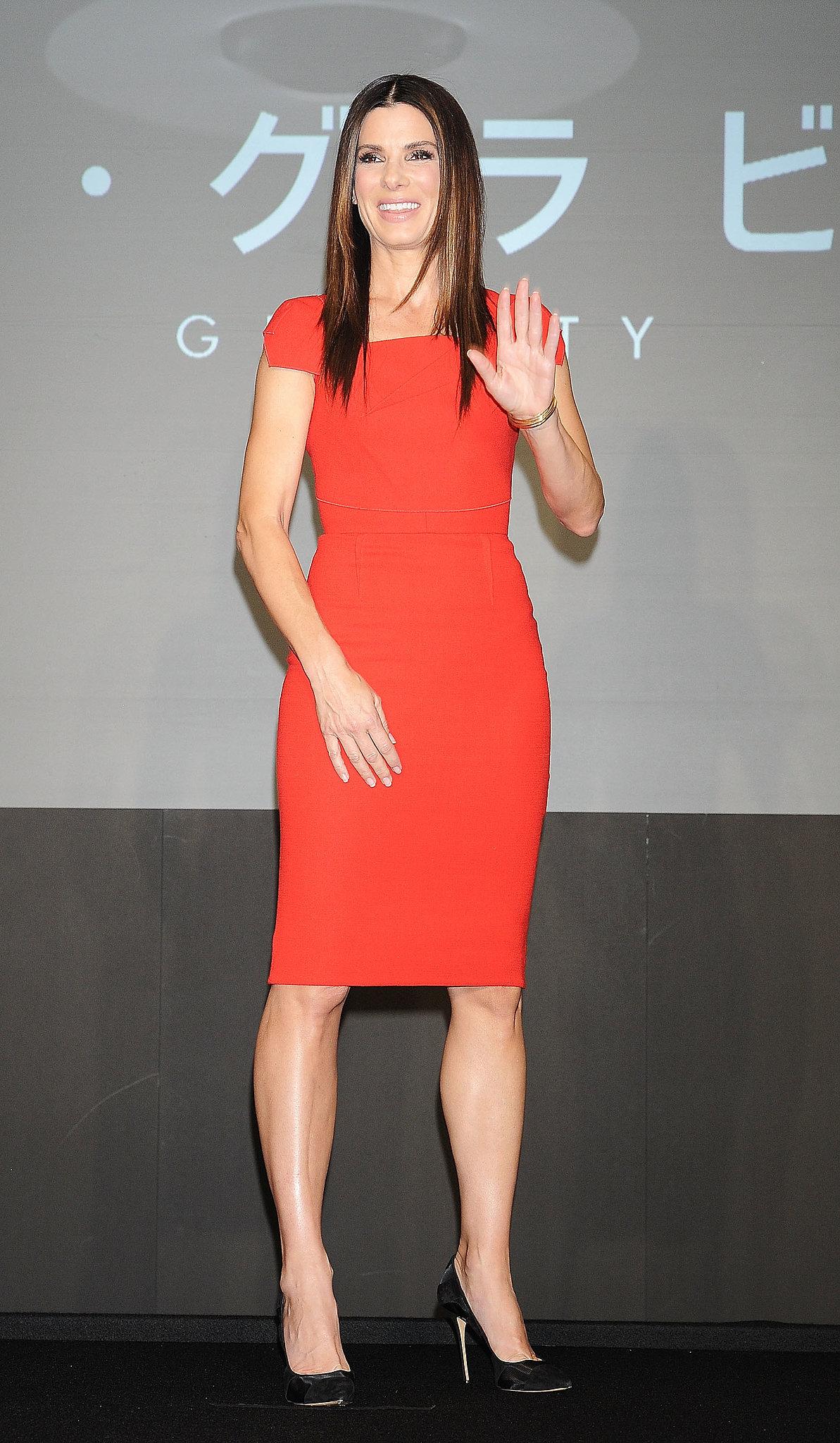 Sandra Bullock at a Gravity Press Conference in Tokyo
