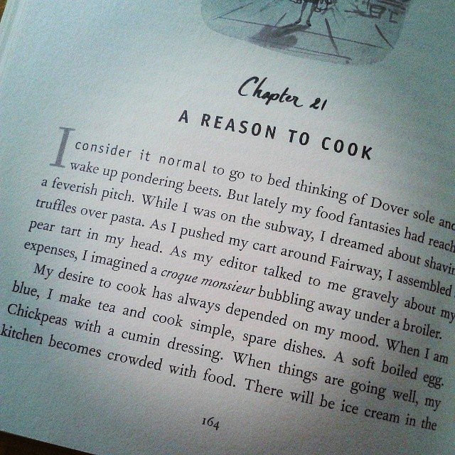 "Meenaxis wrote this about Amanda Hesser's Cooking For Mr. Latte: ""How true! I dream mostly of food. This book is simply delicous."""