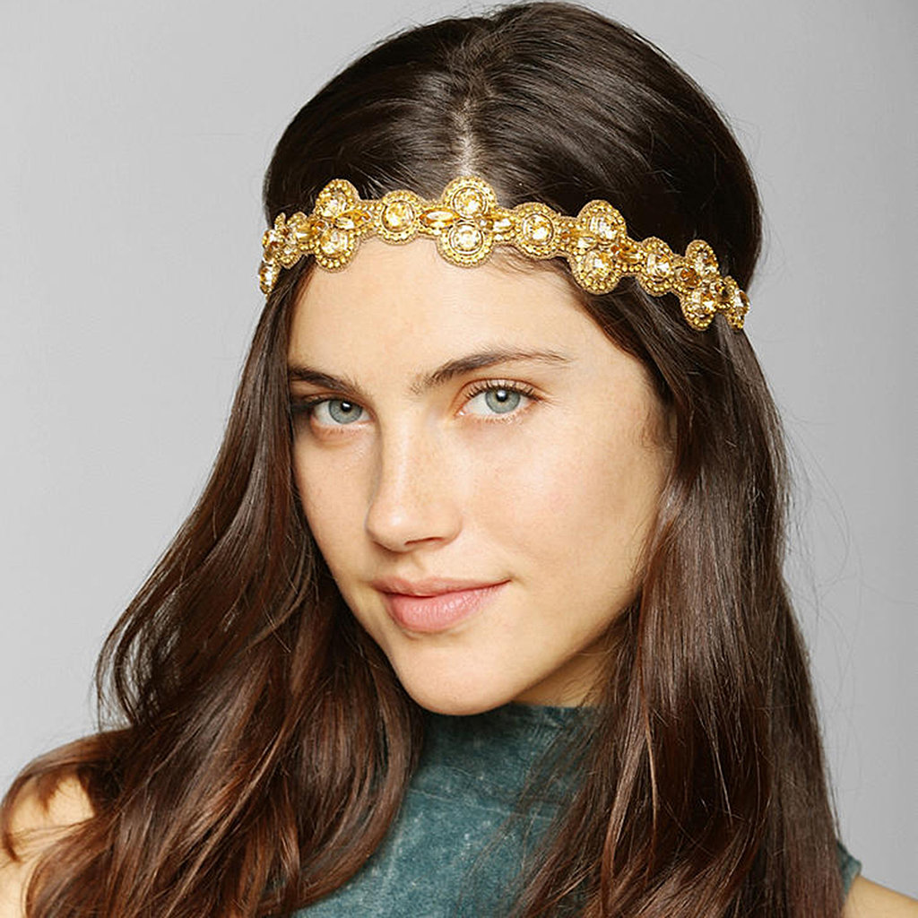 This glittering Deepa Gurnani head wrap ($28) is perfect for someone looking to elevate her bohemian style.