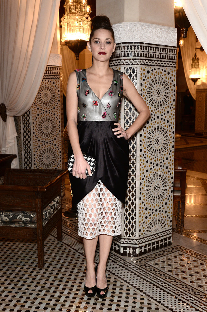 It's never really a shock when Marion Cotillard wears Dior, but that she wore more of the label's dresses (four) than there had been days at the Marrakech International Film Festival (three) was an impressive feat —even by the French actress's standards.