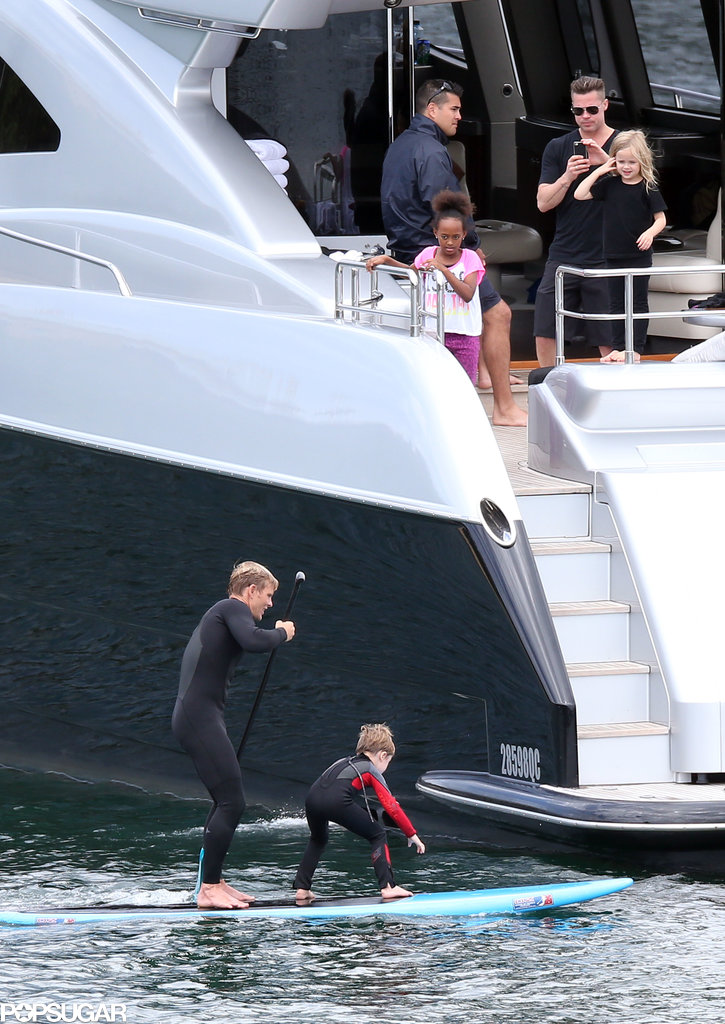 All Aboard! Brad and Angelina Take Their Troupe Yachting
