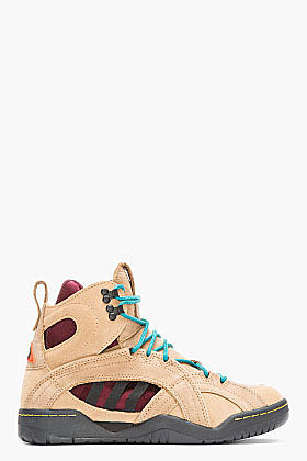 ADIDAS ORIGINALS BY O.C. Taupe Suede OC Enforcer Convertible Rock Climbing Boots