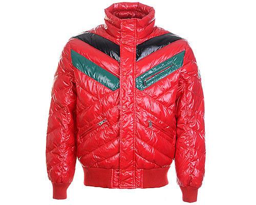 Moncler Mens Polished Down Coats 7832 Burgundy