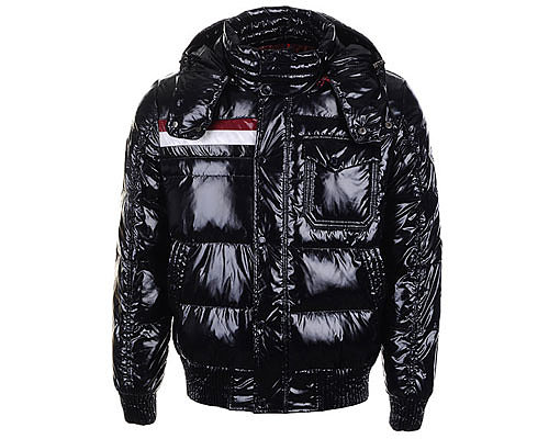 Moncler Mens Hooded Down Coats 7784 Black