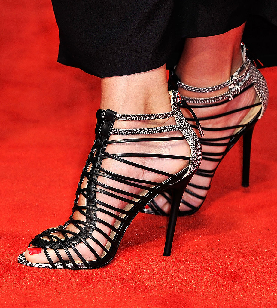 It was a good red carpet year for Sandra Bullock, with a long promotional tour for Gravity and The Heat (she chose this pair for the latter).