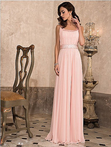 Prom Dresses Sheath Floor Length Sweep/Brush Train Scoop Chiffon [VGUPPXMXRJF] - $179.00 : Homecoming Dresses Cheap Sale