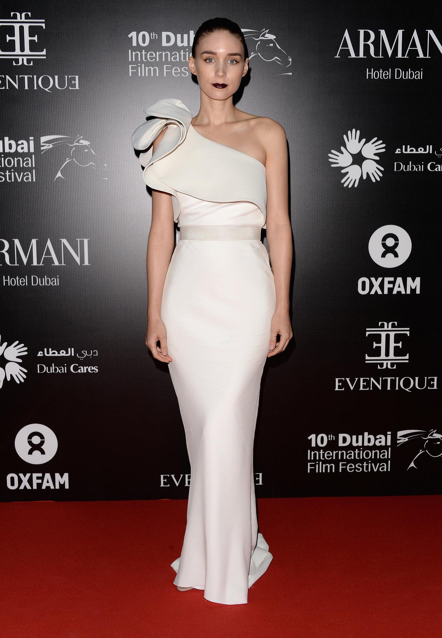 Rooney Mara wore custom Lanvin at the Dubai I