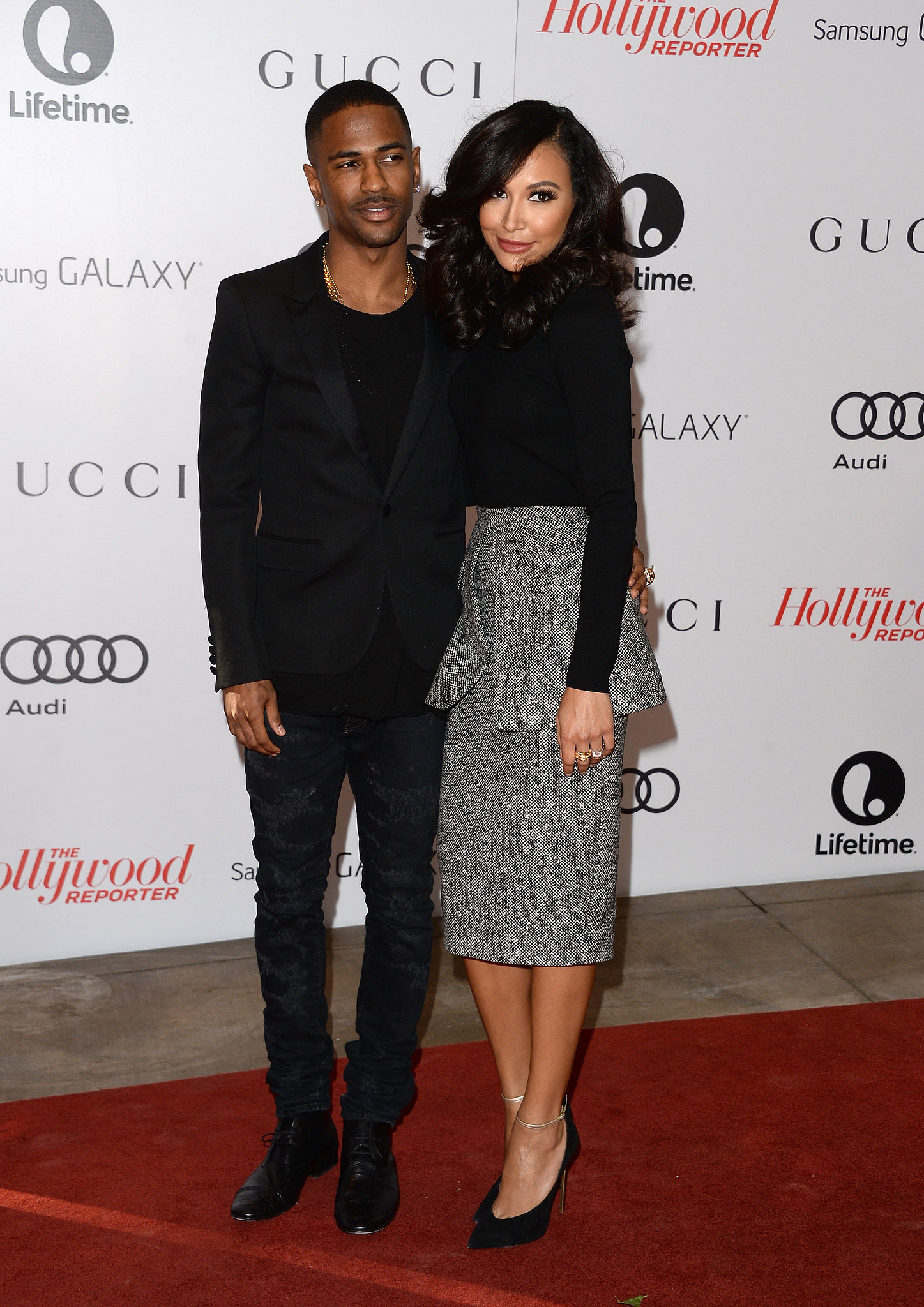 Sean Anderson and Naya Rivera at the 22nd annual Women in Entertainment breakfast in Beverly Hills.