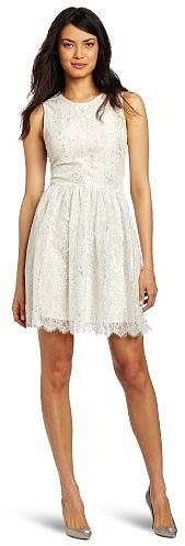 ERIN Erin Fetherston Women's Metallic Lace Dress