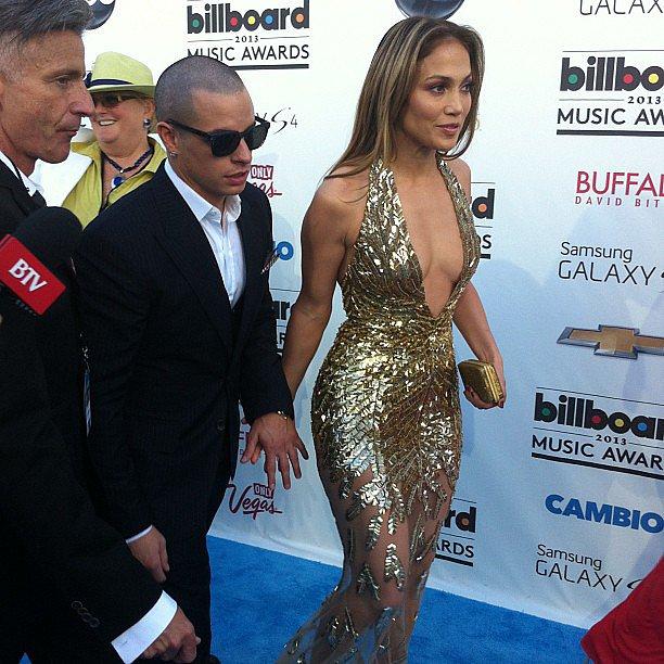 Jennifer Lopez glittered and glowed at the Billboard Music Awards.