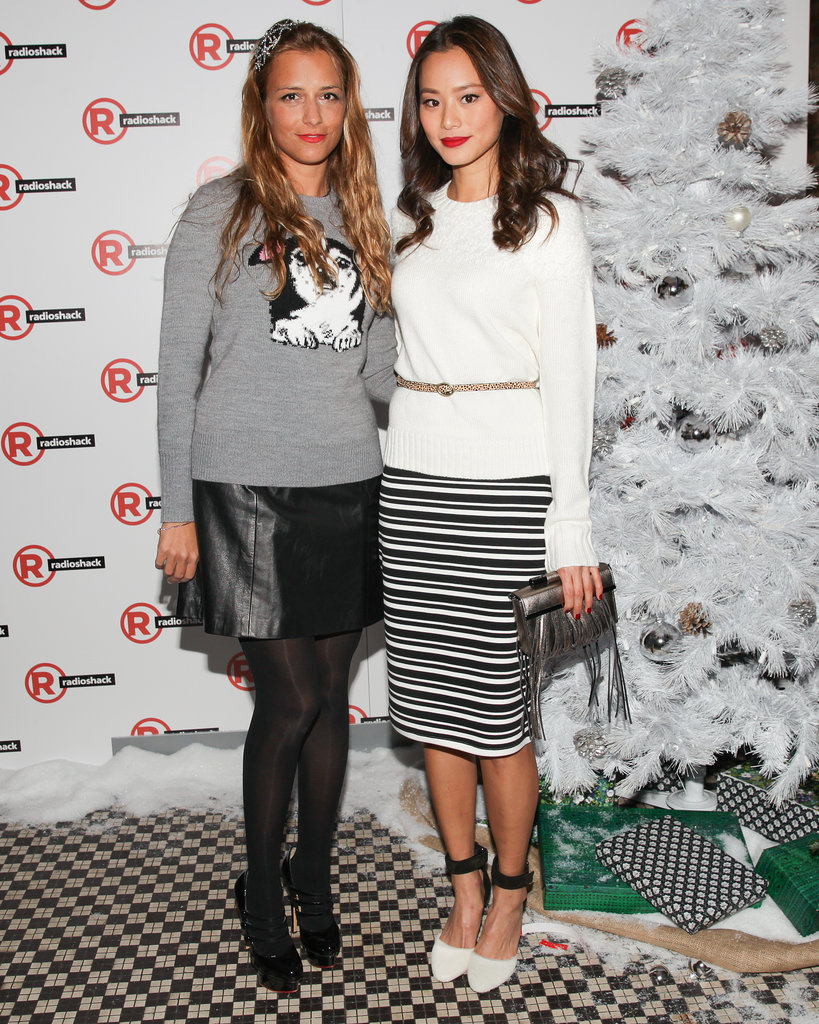 Charlotte Ronson and Jamie Chung at Charlotte Ronson's holiday party.