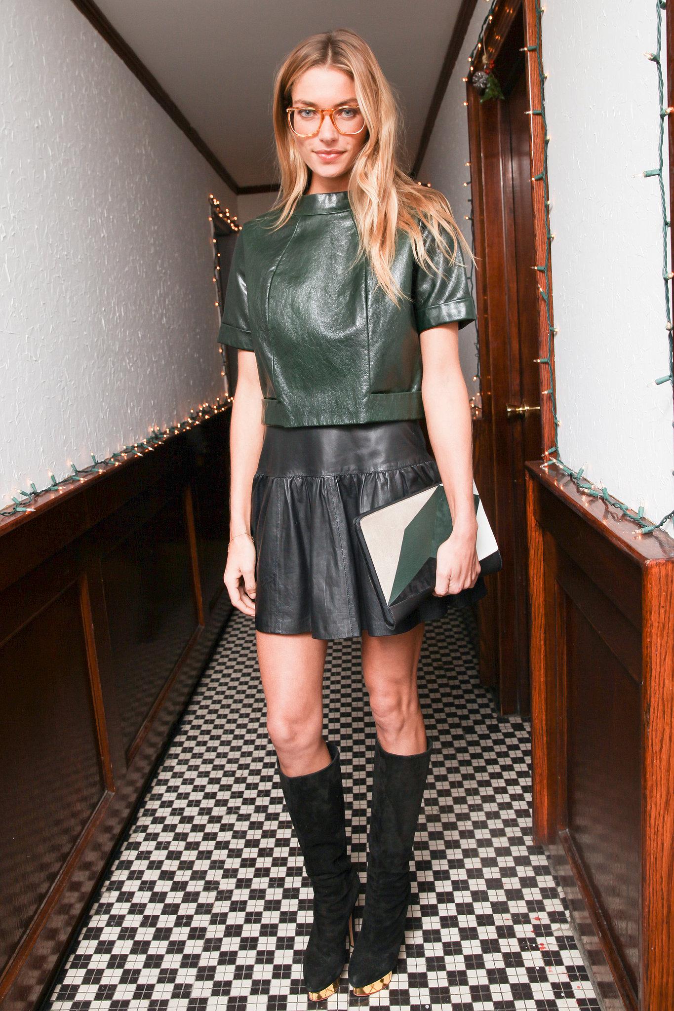 Jessica Hart at Charlotte Ronson's hol