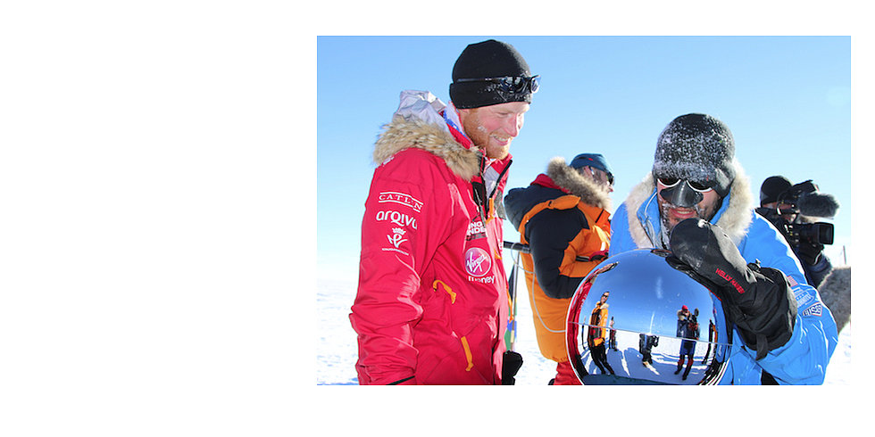 Prince Harry and His Beard Finally Make It to the South Pole
