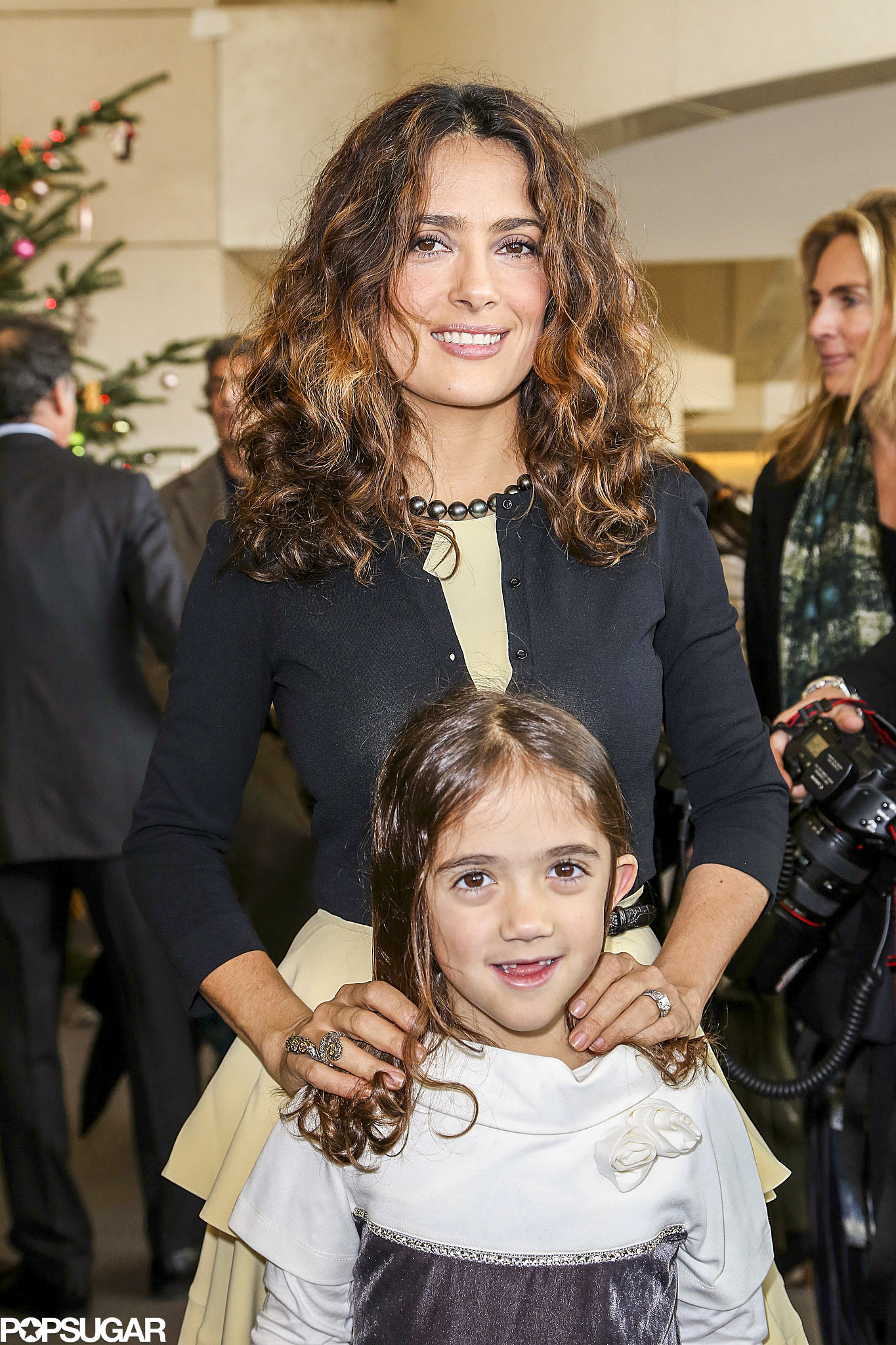 Salma Hayek and her daughter, Valentina, celebrated the holidays early in Paris at th