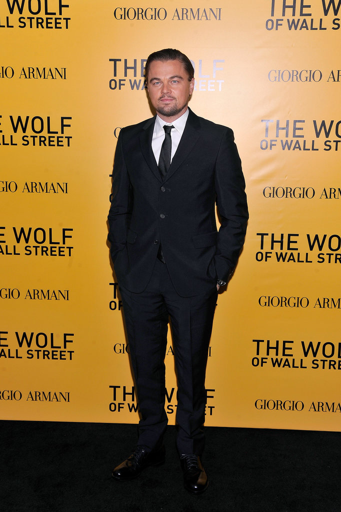 Leonardo DiCaprio looked handsome at the NYC premiere of The Wolf of Wall Street.