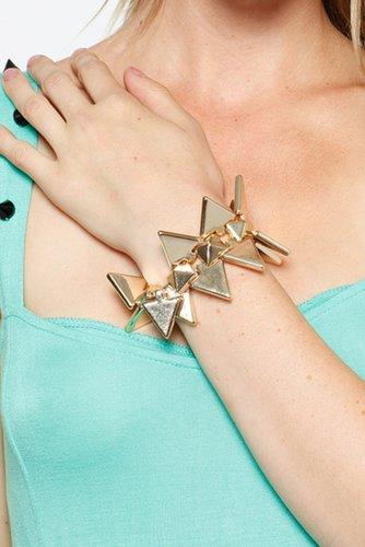 Golden Arrow Spike Bracelet