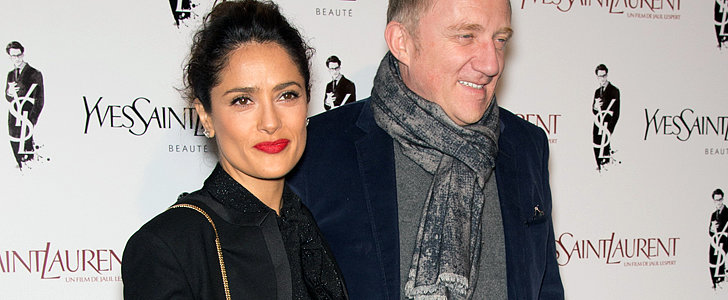 Salma Hayek Looks Très Chic on the Red Carpet, Non?
