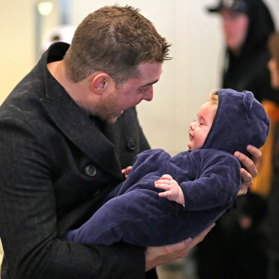 Michael Buble and Luisana Lopilato With Baby Noah Pictures