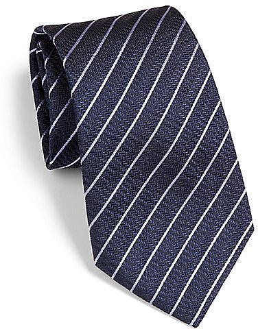 Armani Collezioni Horizontal Stripe Silk Tie
