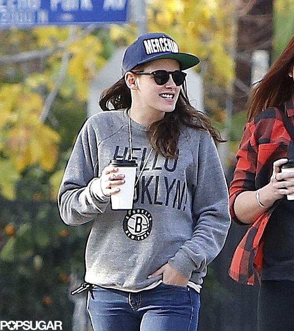 Kristen Stewart wore a Brooklyn Nets sweatshirt.