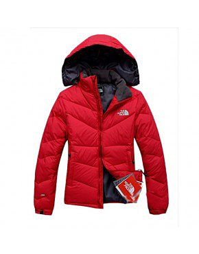North Face Canada Red Down Jacket Womens BJ130266