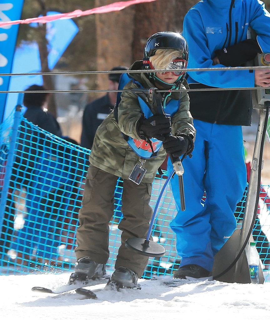 Zuma tried his hand at skiing.