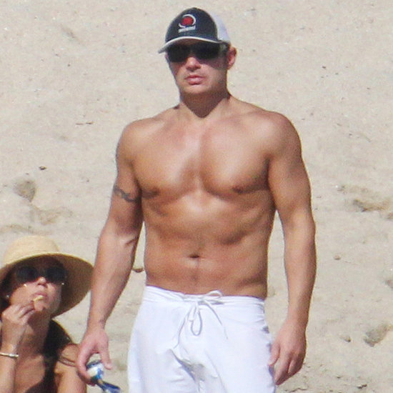 Nick Lachey Shirtless on the Beach in Cabo