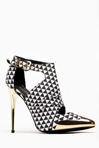 Wild Rose Metallic Pointed Toe Prism Heel @ Cicihot Heel Shoes online store sales:Stiletto Heel Shoes,High Heel Pumps,Womens Hig
