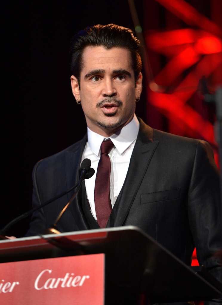 Colin Farrell took the stage to honor the composer of Saving Mr. Banks.