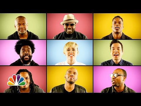 "Jimmy Fallon, Miley Cyrus, and The Roots Sing ""We Can't Stop"""