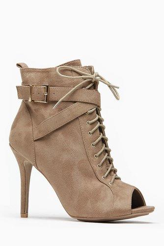Wild Diva Lace Up Desert Peep Toe Bootie @ Cicihot Heel Shoes online store sales:Stiletto Heel Shoes,High Heel Pumps,Womens High
