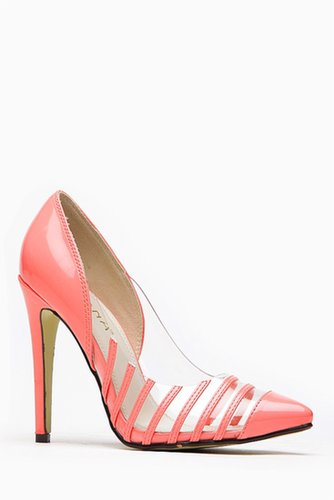 Liliana Olga Coral atent Stripe Pointed Heel @ Cicihot Heel Shoes online store sales:Stiletto Heel Shoes,High Heel Pumps,Womens