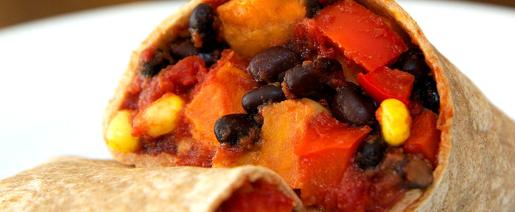 Under 500 Calories: Roasted Sweet Potato and Black Bean Burrito