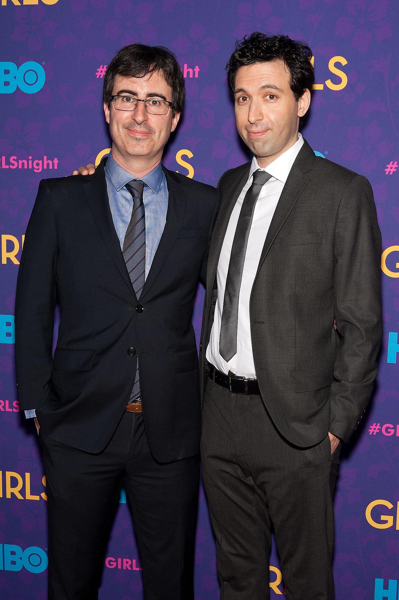Alex Karpovsky and John Oliver were buddy-buddy.