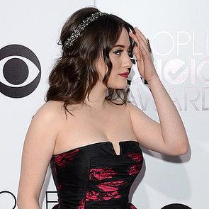 Kat Dennings Hair and Makeup at People's Choice Awards 2014