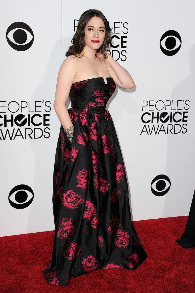Kat showed off the pocket on her dress.
