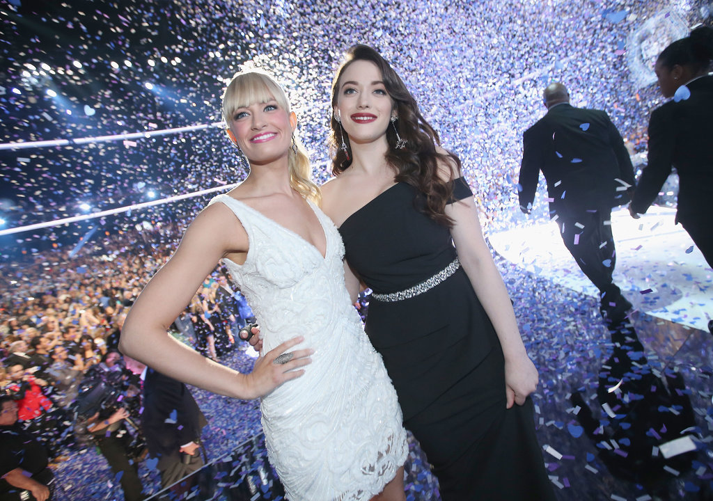 Beth and Kat beamed as the confetti rained over the stage and audience.