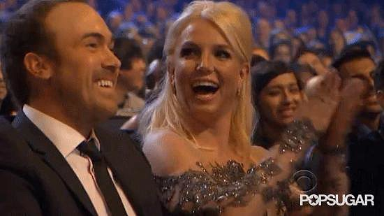 Britney Spears had a really good time, even when she wasn't accepting her award for favorite pop artist.