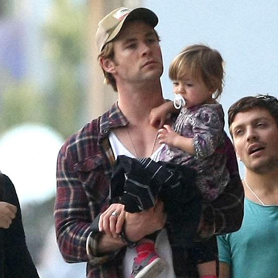Chris Hemsworth and Pregnant Elsa Pataky in Venice Beach