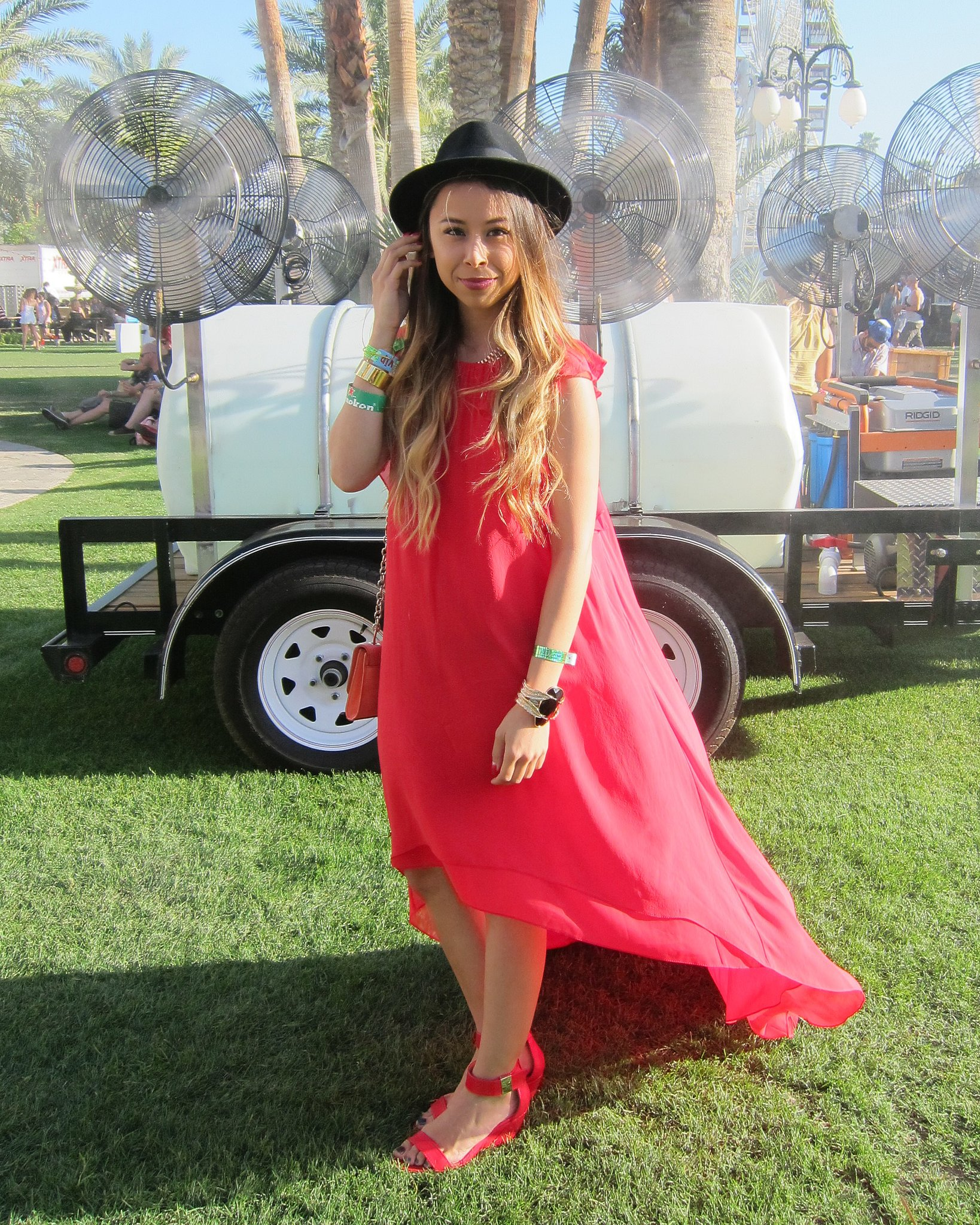 Ashley Weston was caught in the perfect breezy moment in her flowy BCBG Max Azria maxi dress and Prabal Gurung For Target sandals. Source: Chi Diem Chau