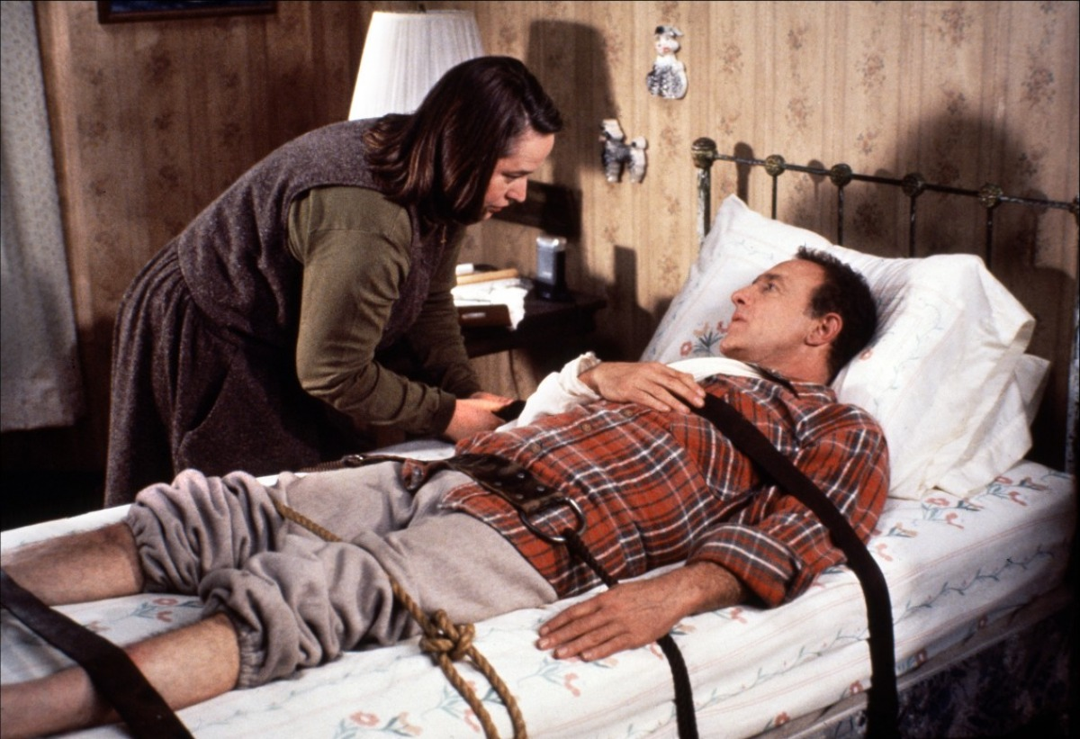 reaction to misery Based on a 1987 stephen king novel, misery starred kathy bates in an oscar-winning performance as annie wilkes, a nurse and huge fan of author paul sheldon, portrayed by james caan when annie.