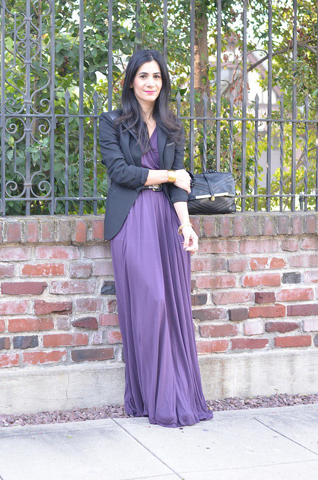 Congrats, AVintageSplendor! We love how you added shape and structure to your maxi dress with a tailored blazer!