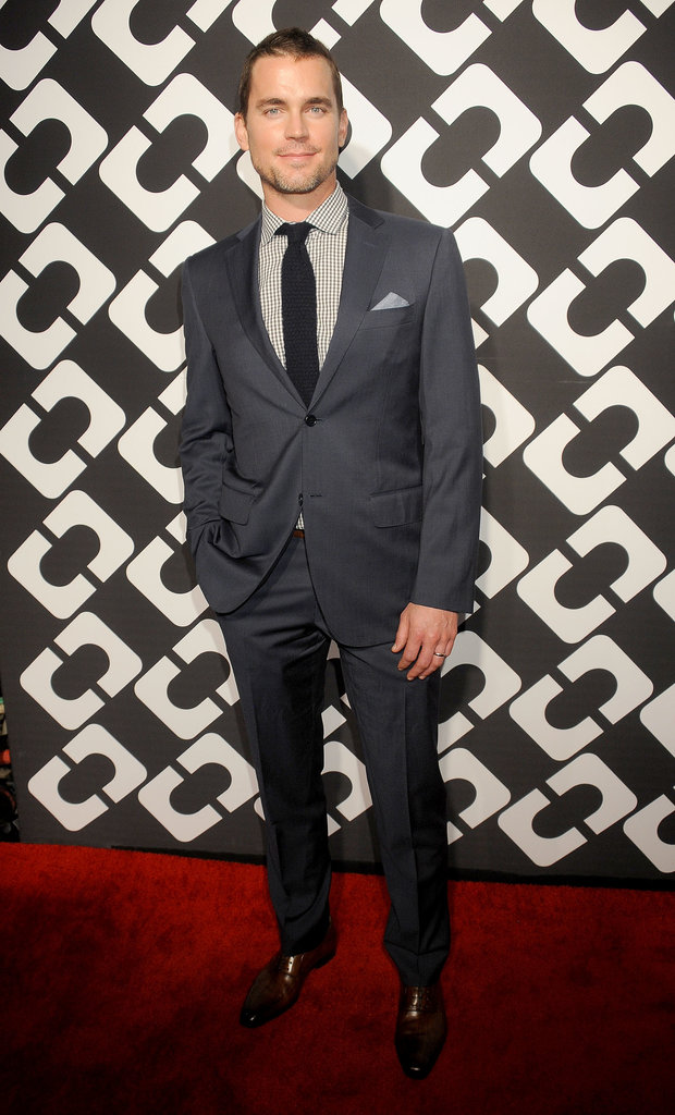 Matt Bomer showed off his newly shaved head at Friday's Journey of a Dress bash.