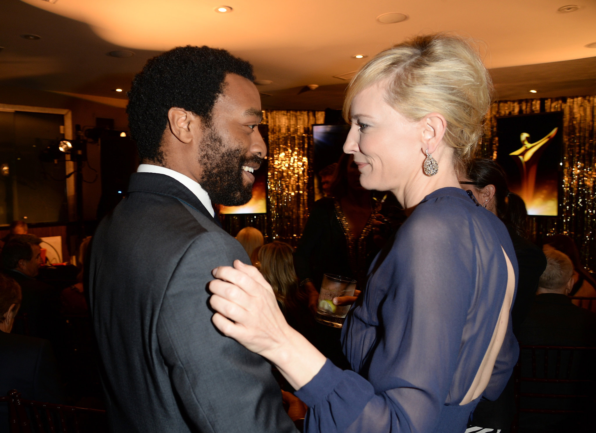Cate Blanchett congratulated Chiwetel Ejiofor at the AACTA Awards on Friday.