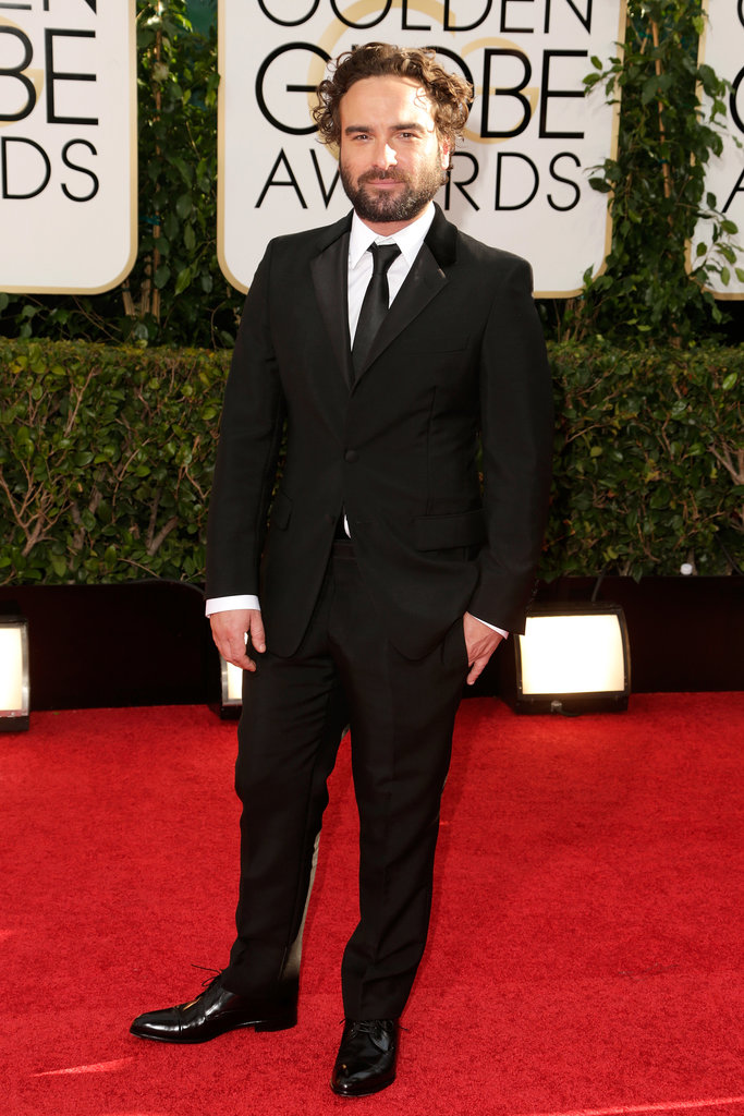 The Big Bang Theory's Johnny Galecki suited up for the red carpet.